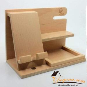 Giá để điện thoại đa năng gỗ