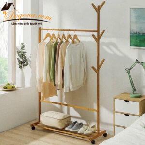 Giá treo quần áo – kệ treo quần áo gỗ