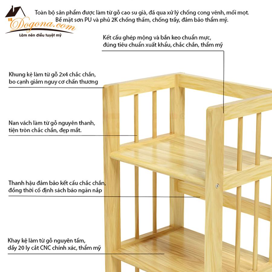 kệ để đồ 5 tầng gỗ thông1