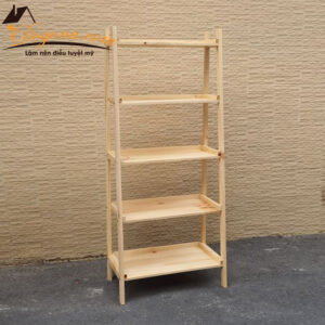 Kệ hình thang gỗ 5 tầng đa năng