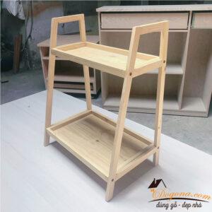 Kệ hình thang gỗ thông 2 tầng đa năng