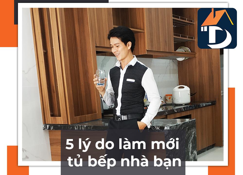 Top 5 lý do làm mới tủ bếp gia đình
