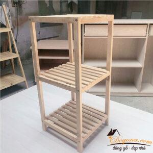 Kệ vuông nhiều tầng gỗ thông